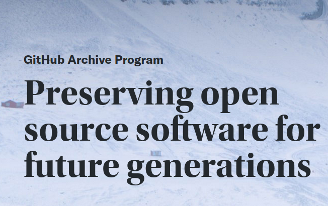 Github Arctic Vault program